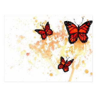 Monarch Butterfly Art Postcard