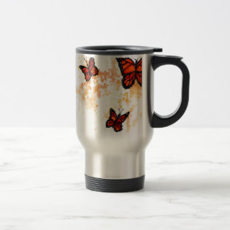 Monarch Butterfly Art Travel Mug