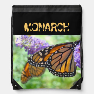 MONARCH butterfly backpacks drawstring Monarchs
