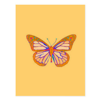 Monarch Butterfly Beige Pastel Gifts by Sharles Post Cards