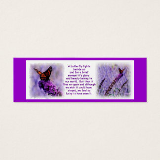 Monarch Butterfly Bookmark Mini Business Card