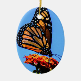 Monarch Butterfly Ceramic Oval Decoration