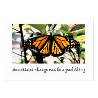 monarch butterfly change can be...good thing business card