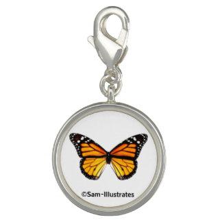 Monarch Butterfly Charm Bracelet Charm