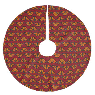 Monarch Butterfly Christmas Tree Skirt