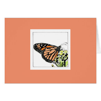 Monarch Butterfly (Colourized) Card