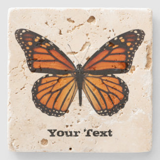 Monarch Butterfly Custom Stone Coaster