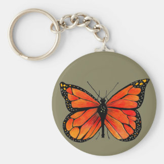 Monarch Butterfly Design on Key Chain