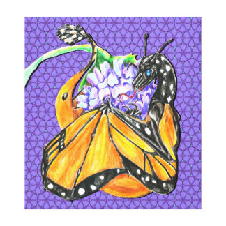 Monarch Butterfly Dragon Stretched Canvas Prints