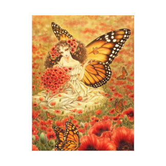 Monarch Butterfly Fairy Canvas Print