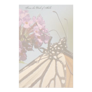 Monarch Butterfly Flowers Floral Wildlife Personalised Stationery
