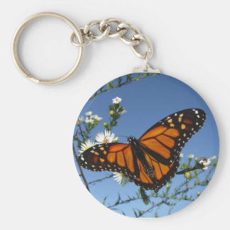 Monarch Butterfly flowers Keychain