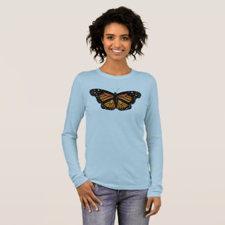 MONARCH BUTTERFLY FRONT AND BACK by Slipperywindow Long Sleeve T-Shirt