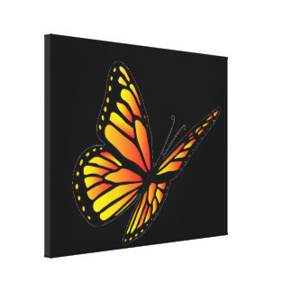 Monarch butterfly gallery wrapped canvas