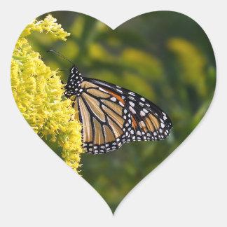 Monarch Butterfly Heart Shaped Sticker