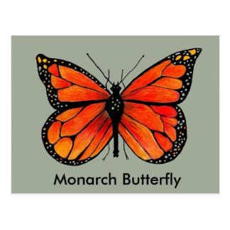 Monarch Butterfly Illustration on Postcard