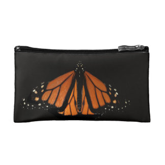 Monarch Butterfly in the key of Orange Makeup Bag