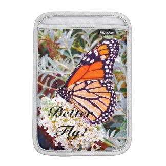 Monarch butterfly iPad mini sleeve