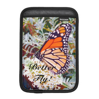Monarch butterfly iPad mini sleeves