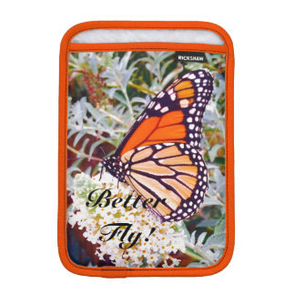 Monarch butterfly iPad mini sleeves