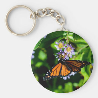 Monarch Butterfly Basic Round Button Key Ring