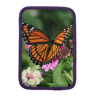 Monarch Butterfly Lantana iPad Mini Sleeve