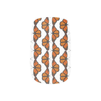Monarch Butterfly Madness Nail Art Wraps
