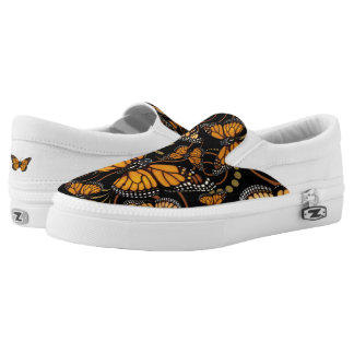 Monarch Butterfly Madness Slip-On Shoes