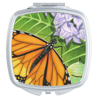 Monarch Butterfly Makeup Mirror