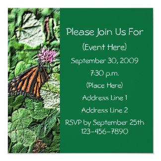 Monarch Butterfly Nature Square Invitation
