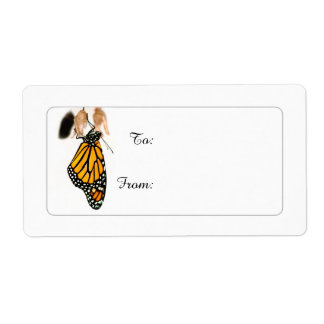 Monarch Butterfly Newborn on Gift Tags Shipping Label