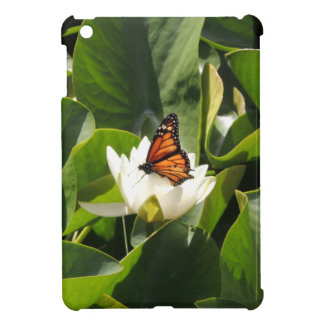 Monarch Butterfly on a Lily Pad iPad Mini Cover