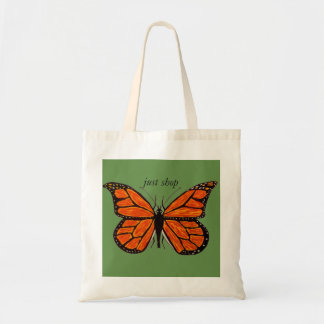 Monarch Butterfly on Budget Tote Bag