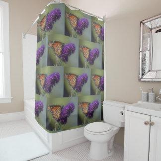 Monarch Butterfly On Butterfly Bush Shower Curtain