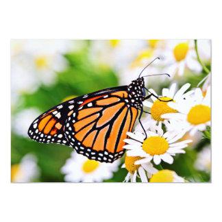 Monarch butterfly on flower custom announcements