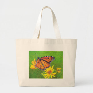 monarch butterfly on flowers tote bag