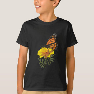 Monarch Butterfly on Marigold Kids T-Shirt