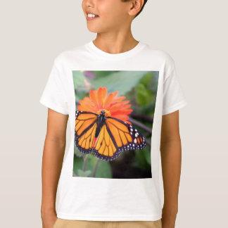 Monarch butterfly on orange flower T-Shirt