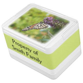 Monarch Butterfly on Purple Butterfly Bush Cooler