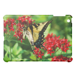 monarch butterfly on red bush case for the iPad mini