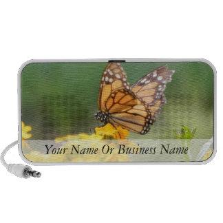 Monarch Butterfly on Siberian Wallflowers Travelling Speakers