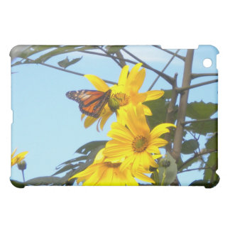 Monarch Butterfly on Sunflower iPad case