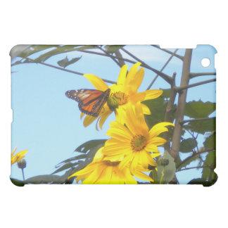 Monarch Butterfly on Sunflower iPad case