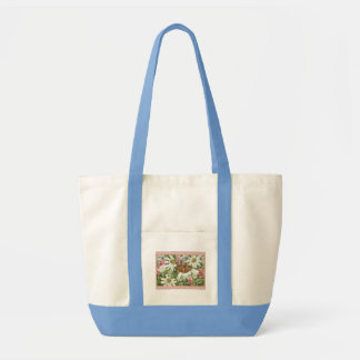 Monarch Butterfly on White Coneflowers Painting Bag