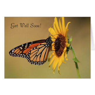 Monarch Butterfly on Yellow Sunflower Greeting Card