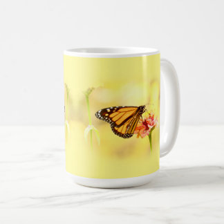 Monarch Butterfly on Zinnia Coffee Mug