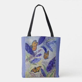 Monarch Butterfly Original Watercolor Tote