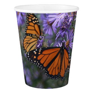 Monarch Butterfly Paper Cup