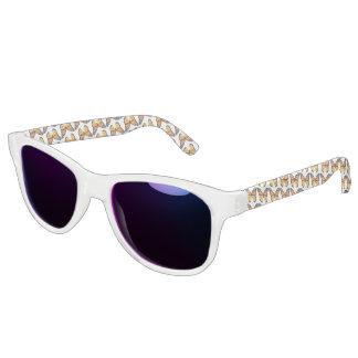 Monarch Butterfly Pattern Adult Retro Sunglasses