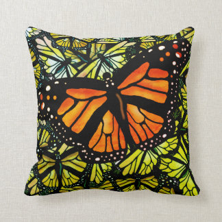MONARCH BUTTERFLY PATTERN by Slipperywindow Cushion